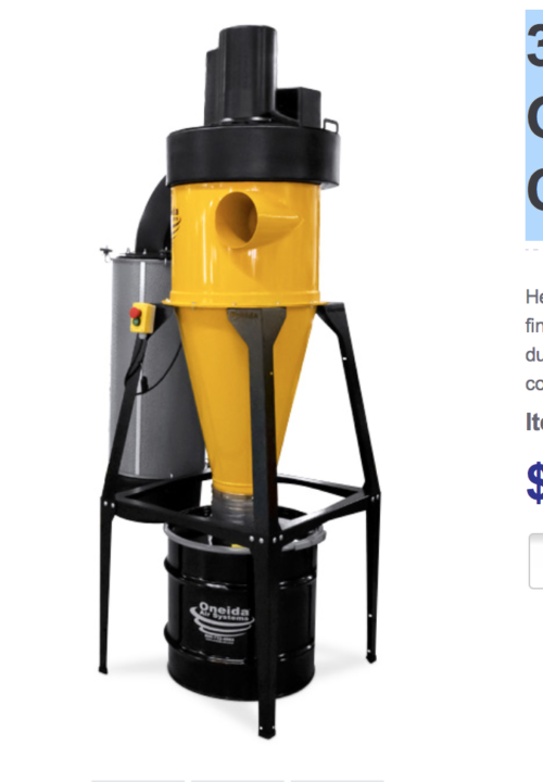 Oneida Air Systems AXD000009 Ultimate Dust Deputy Kit for Festool