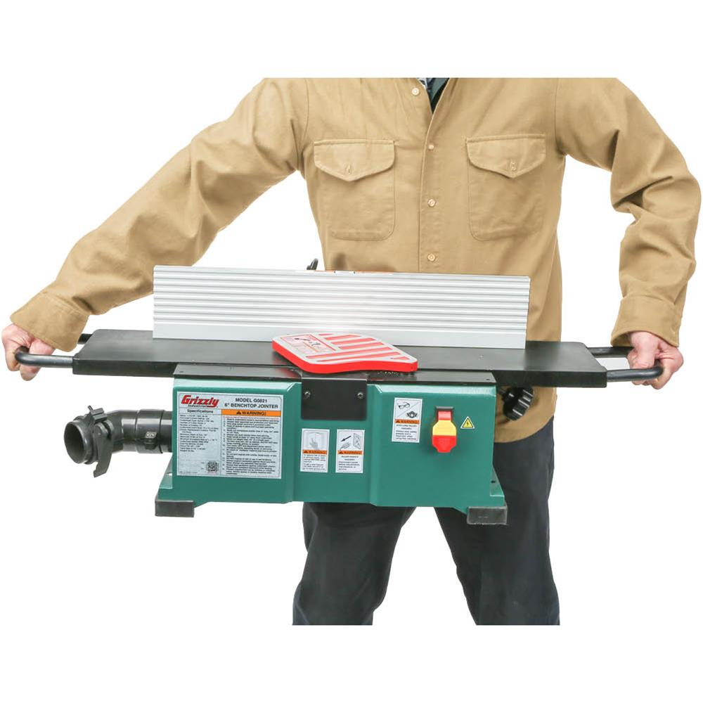 Grizzly G0893 6 Benchtop Jointer With Spiral Cutterhead