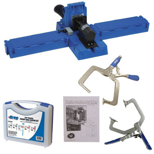Kreg Jig K5 Pocket Hole Jig w/ Screws, Booklet, Pin Clam, and Automaxx KHC  Clamp